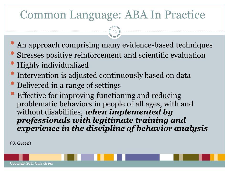 Common Language: ABA In Practice