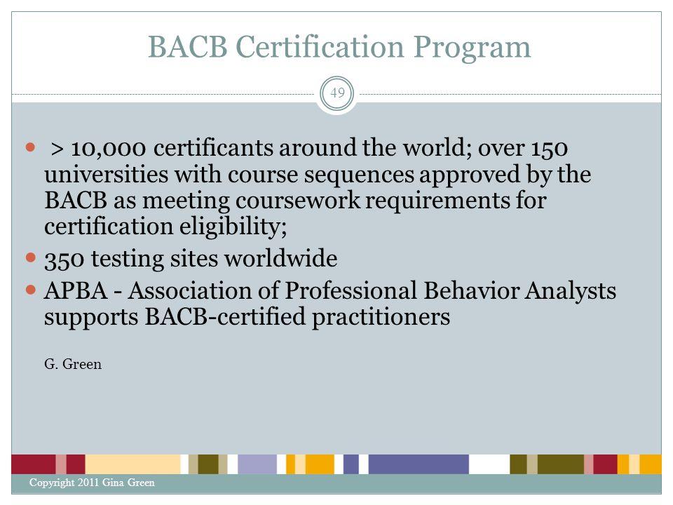BACB Certification Program