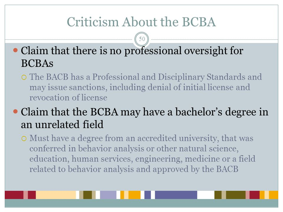 Criticism About the BCBA