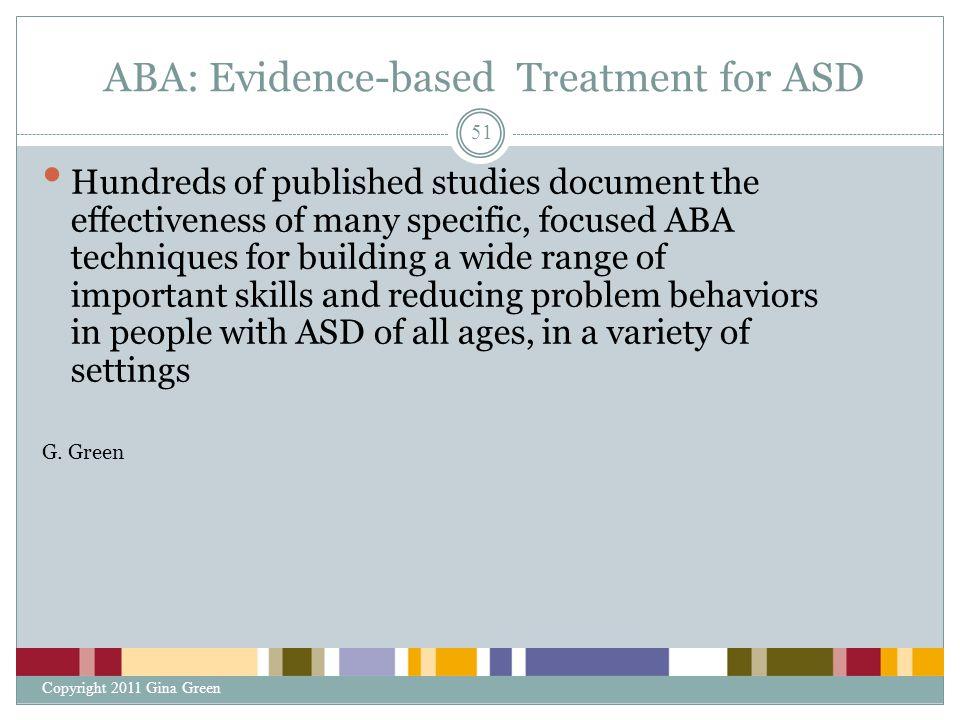 ABA: Evidence-based Treatment for ASD