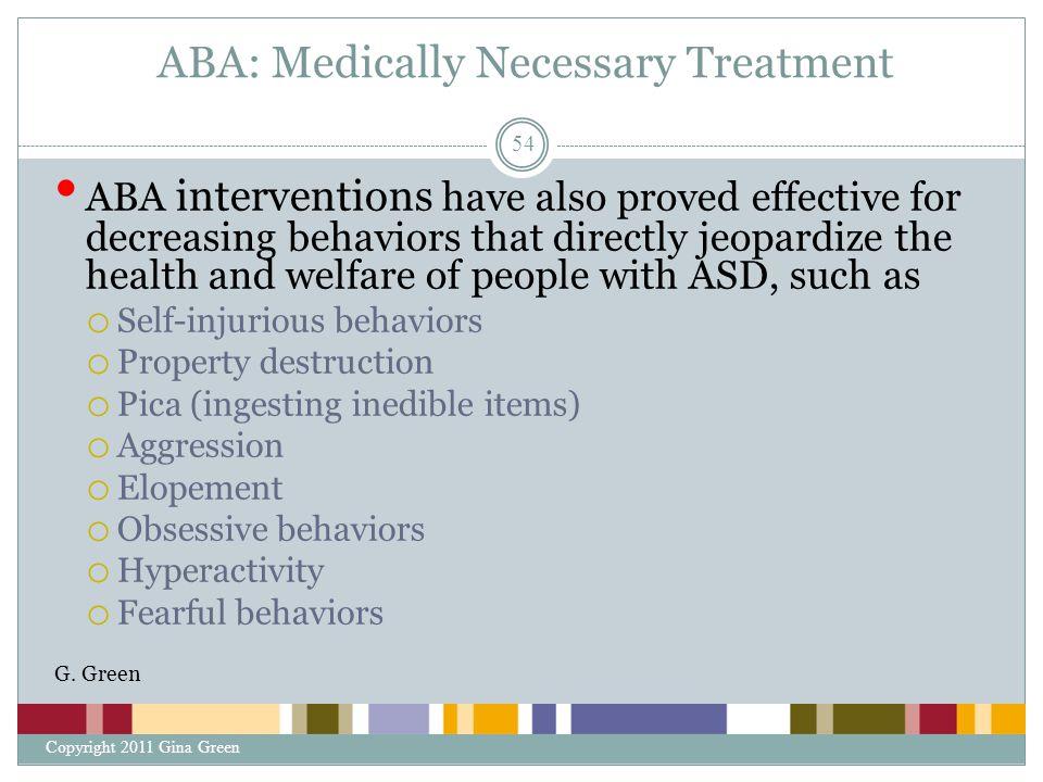 ABA: Medically Necessary Treatment