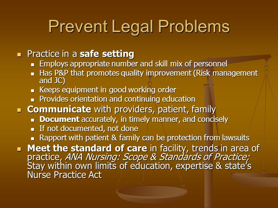 Prevent Legal Problems