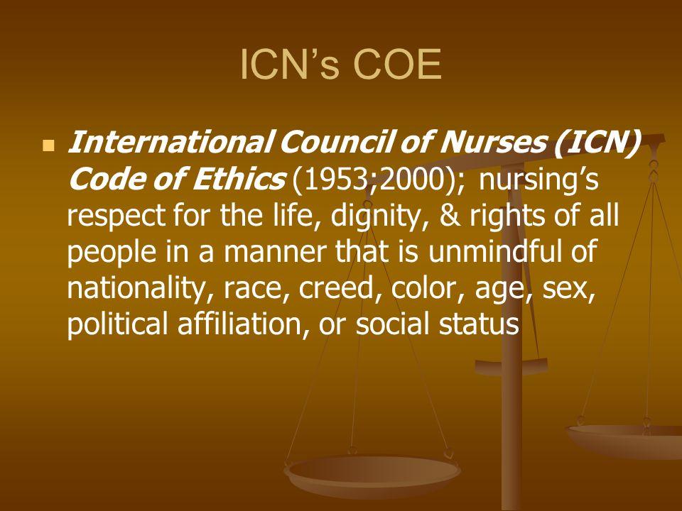 ICN's COE