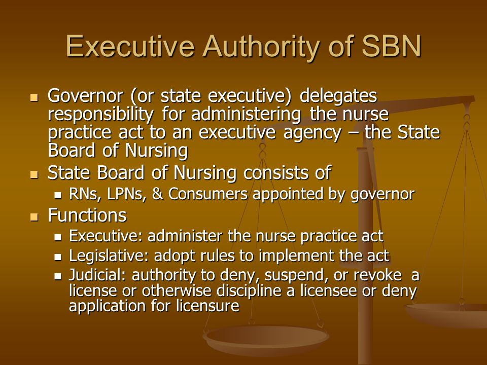 Executive Authority of SBN
