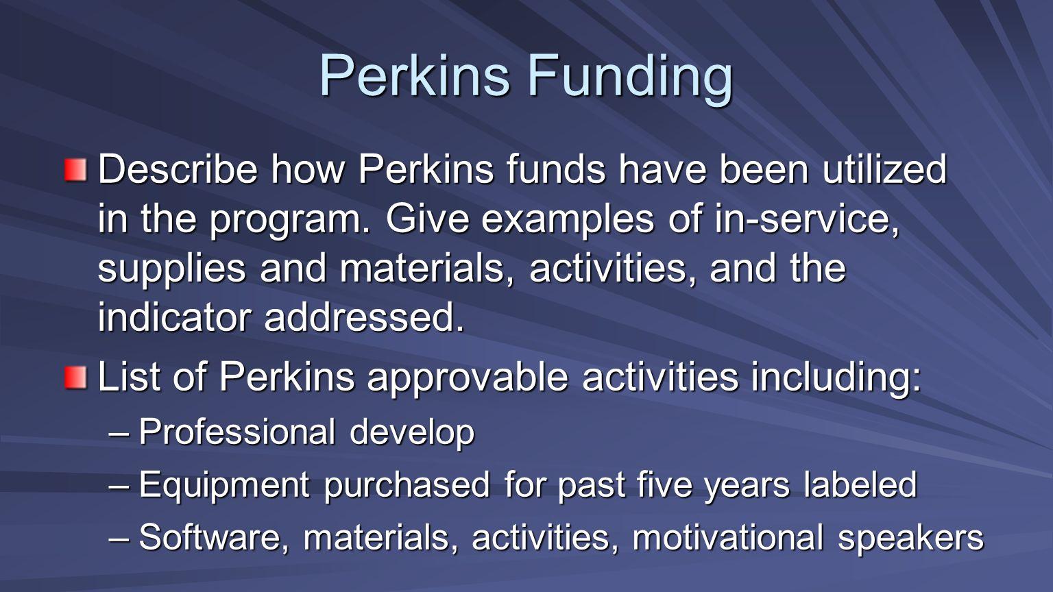 Perkins Funding