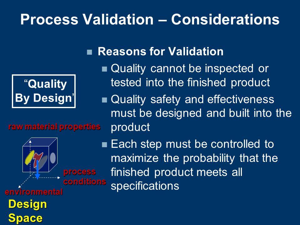 Process Validation – Considerations