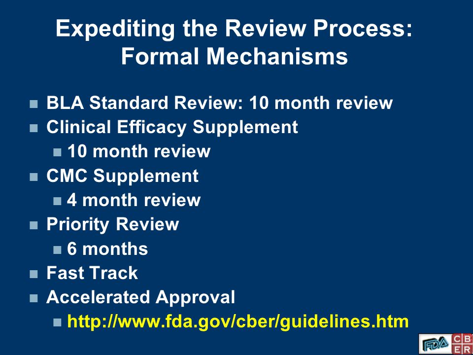 Expediting the Review Process: Formal Mechanisms