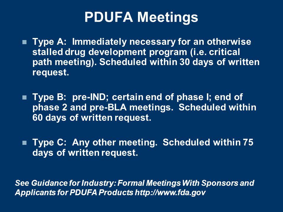 PDUFA Meetings