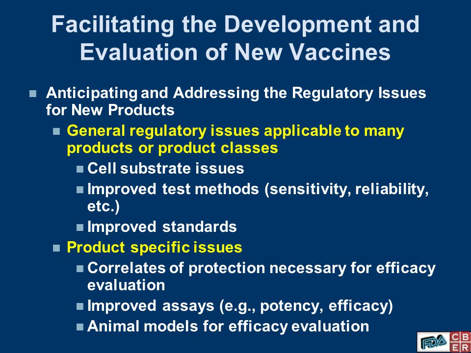 Facilitating the Development and Evaluation of New Vaccines