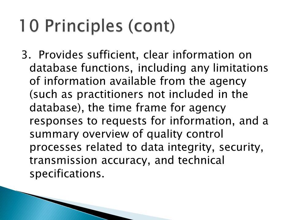 10 Principles (cont)