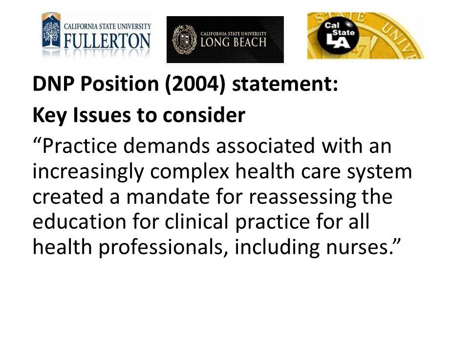 DNP Position (2004) statement: