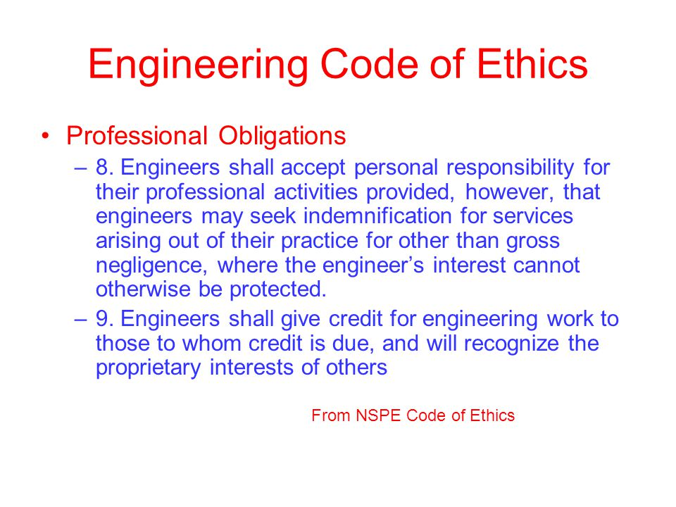 Engineering Code of Ethics