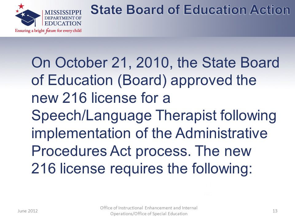 State Board of Education Action