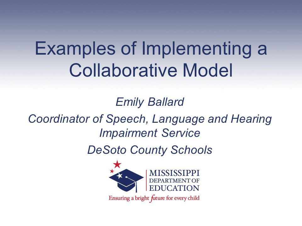 Examples of Implementing a Collaborative Model