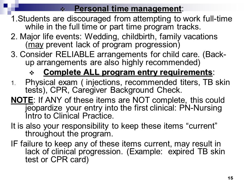 Personal time management: