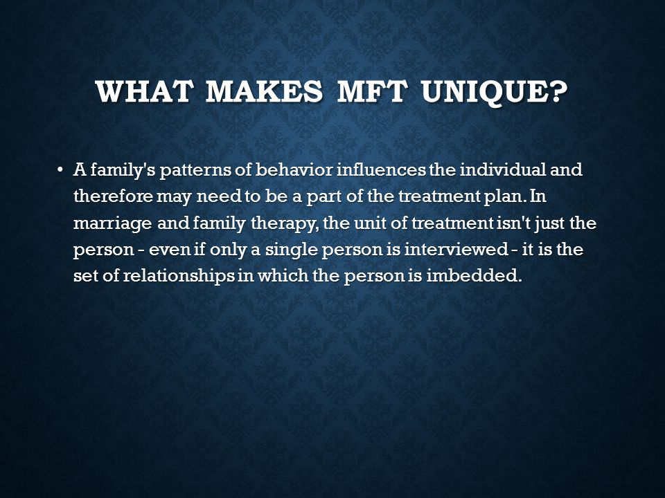 What makes MFT unique