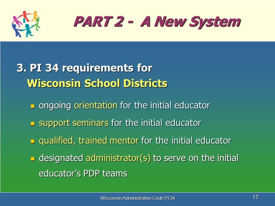 Wisconsin Administrative Code PI 34