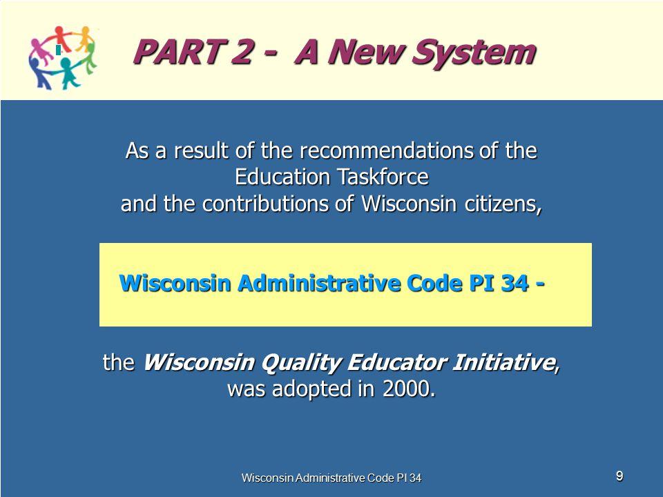 Wisconsin Administrative Code PI 34 -