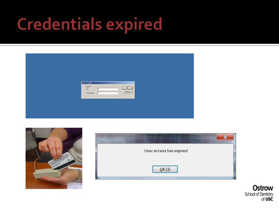 Credentials expired