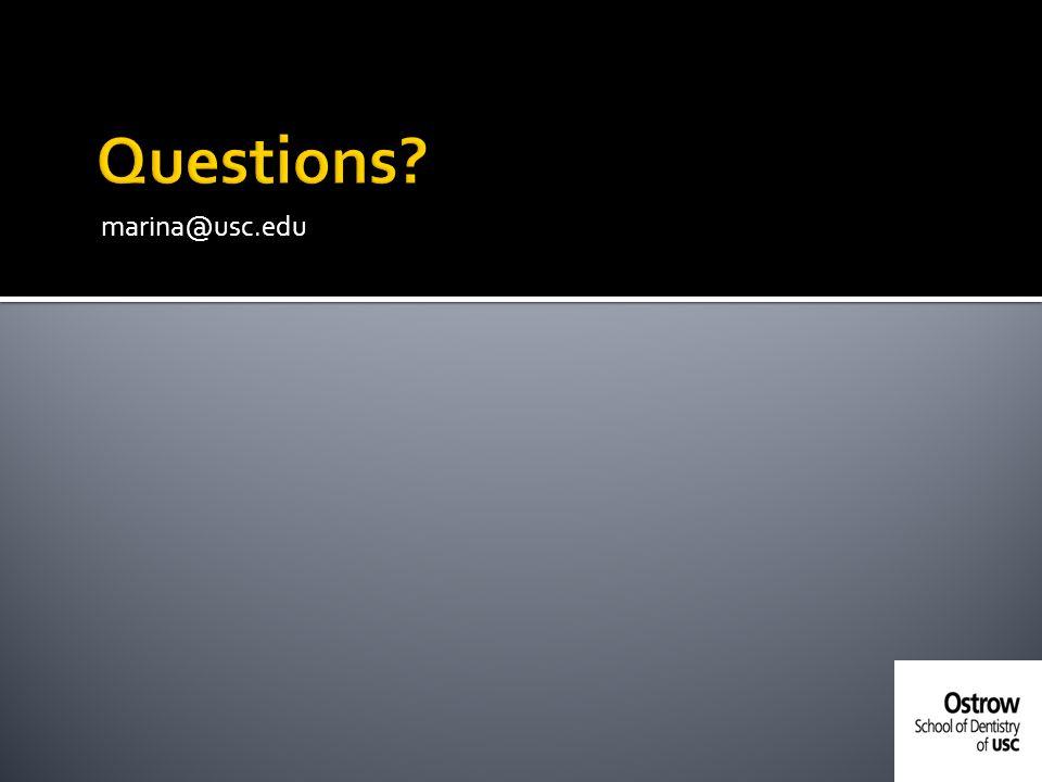 Questions marina@usc.edu