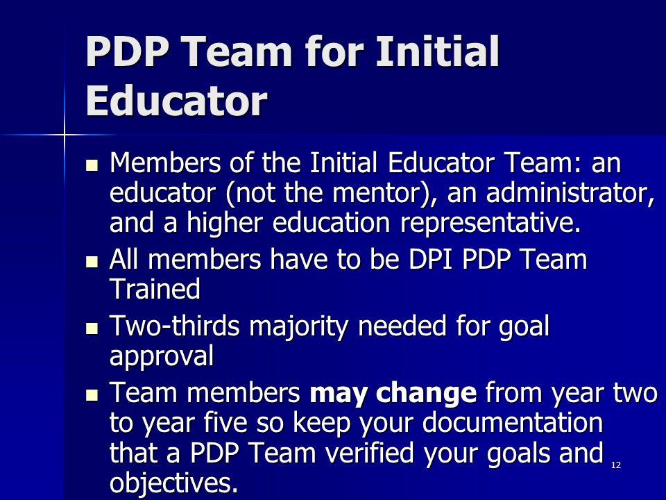 PDP Team for Initial Educator
