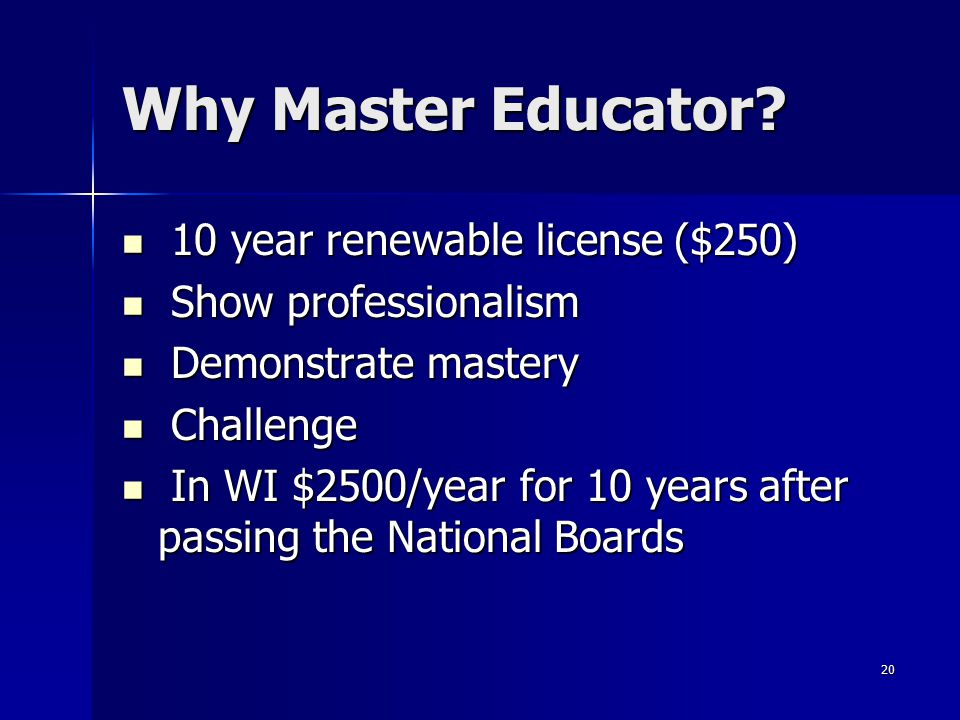 Why Master Educator 10 year renewable license ($250)
