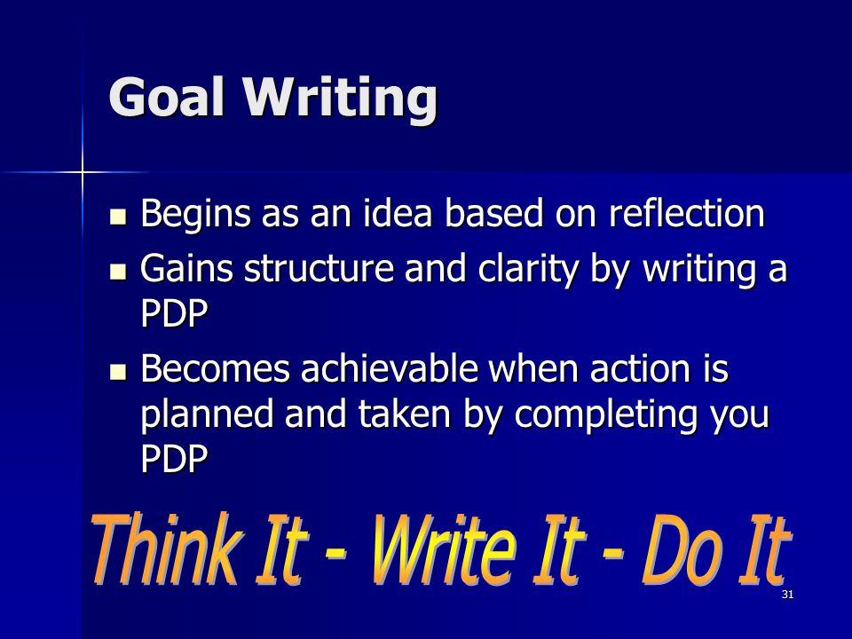 Think It - Write It - Do It