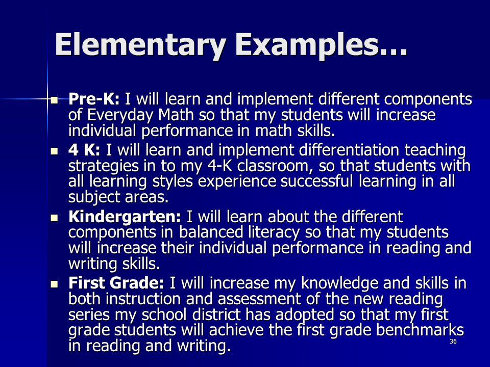 Elementary Examples…