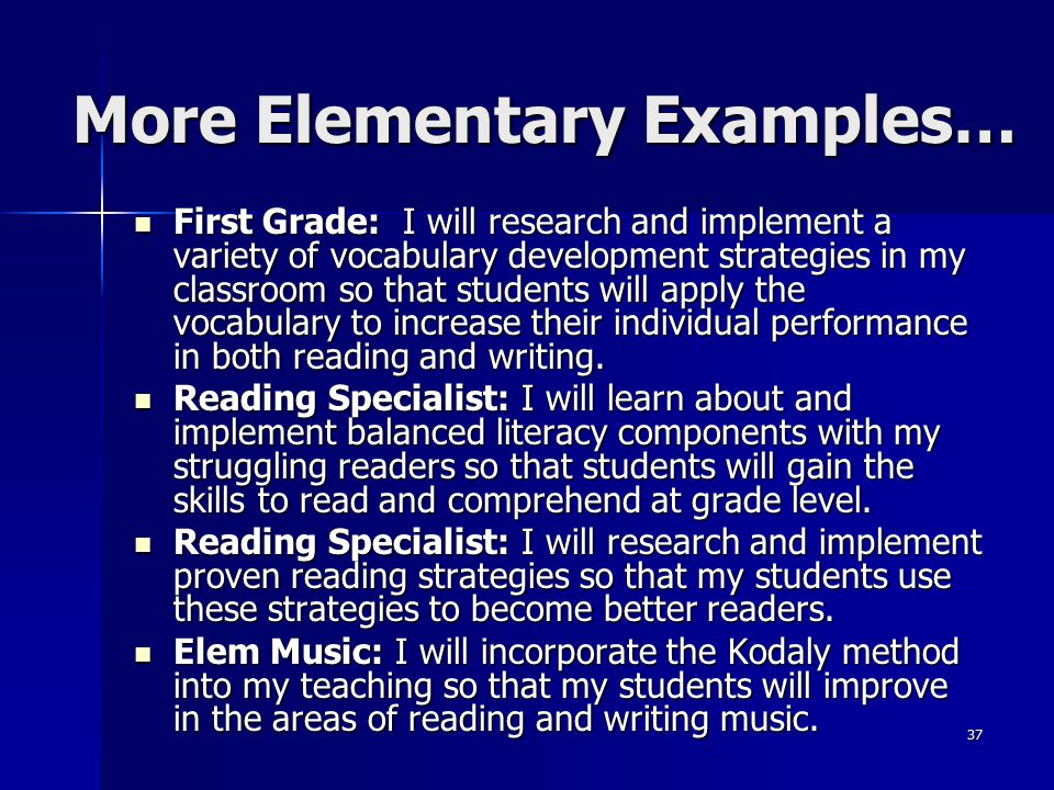 More Elementary Examples…