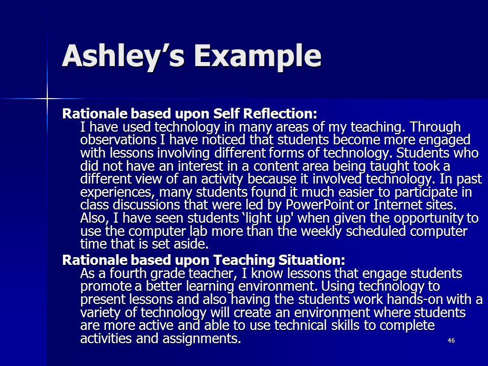 Ashley's Example