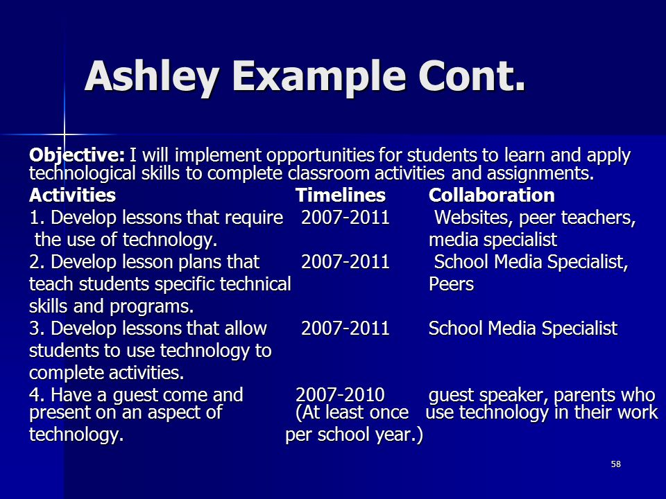 Ashley Example Cont.