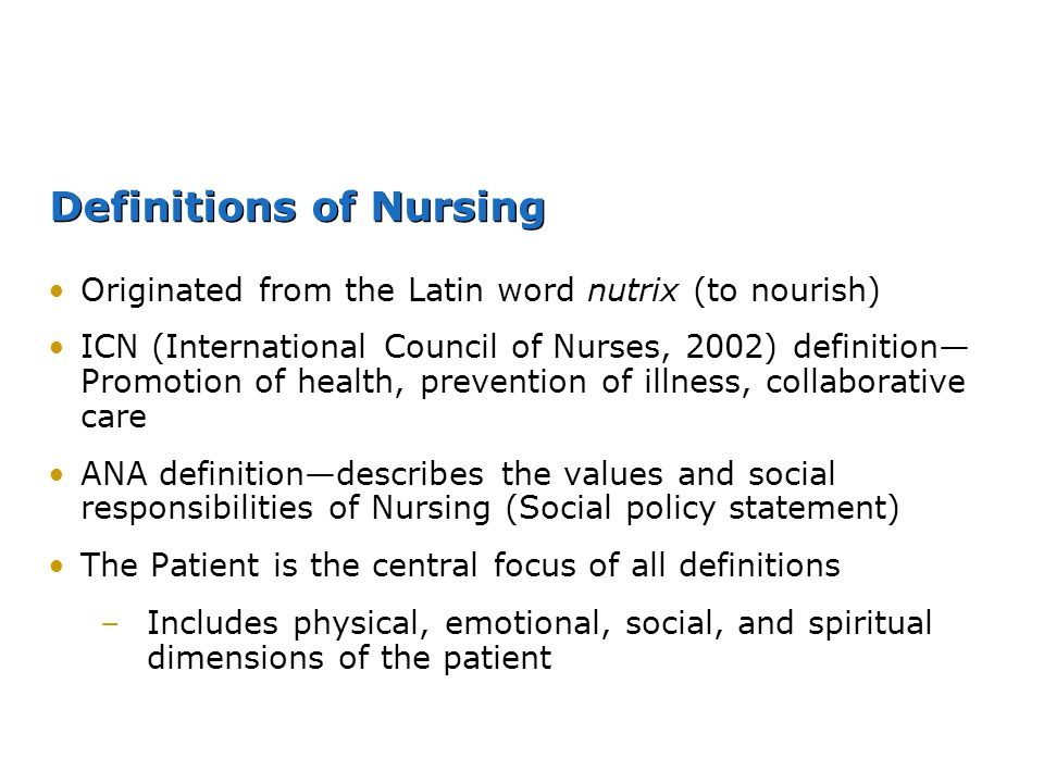 Definitions of Nursing