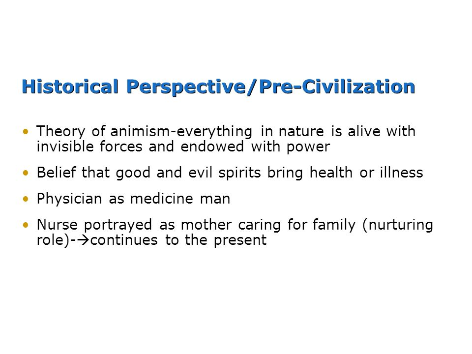 Historical Perspective/Pre-Civilization
