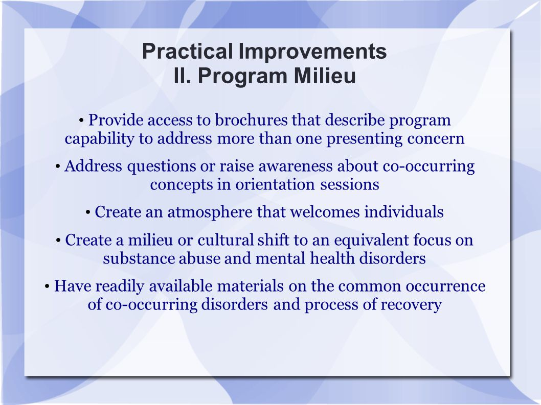 Practical Improvements II. Program Milieu