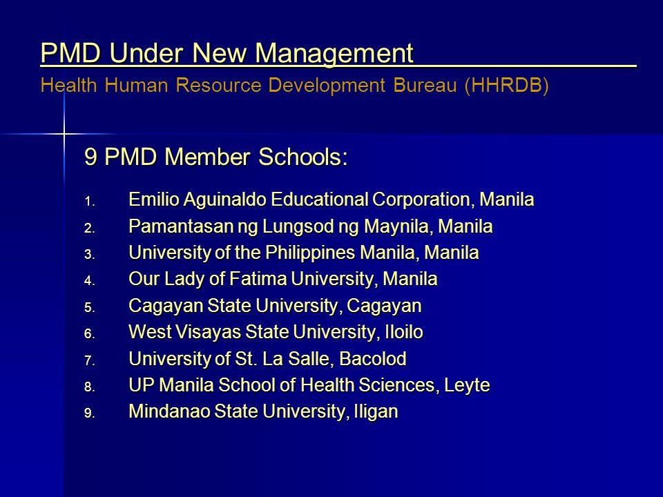 PMD Under New Management