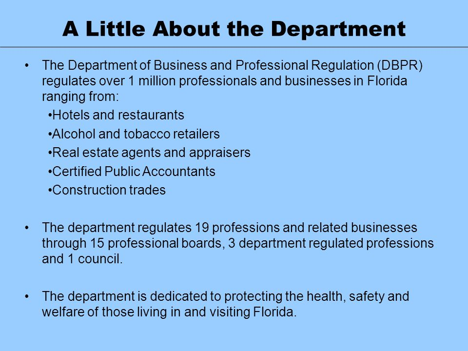 A Little About the Department