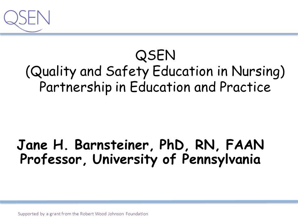 Jane H. Barnsteiner, PhD, RN, FAAN