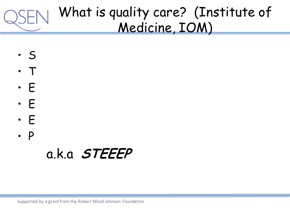 What is quality care (Institute of Medicine, IOM)
