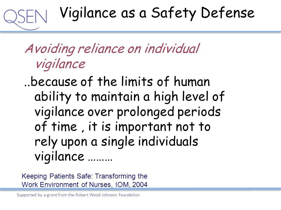 Vigilance as a Safety Defense
