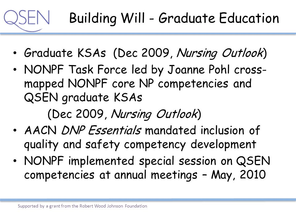 Building Will - Graduate Education