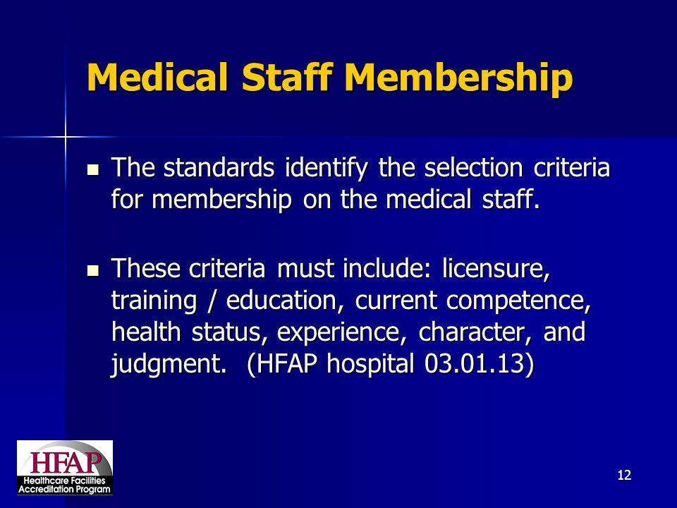 Medical Staff Membership