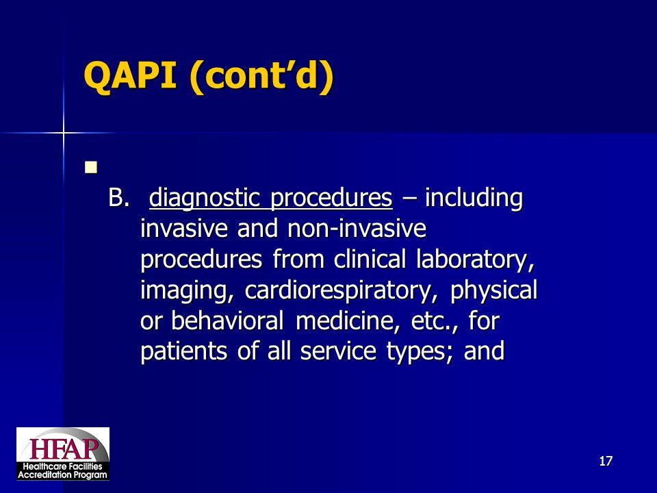 QAPI (cont'd)