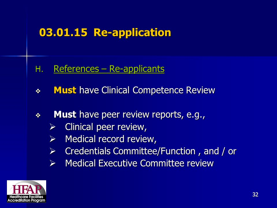 03.01.15 Re-application References – Re-applicants