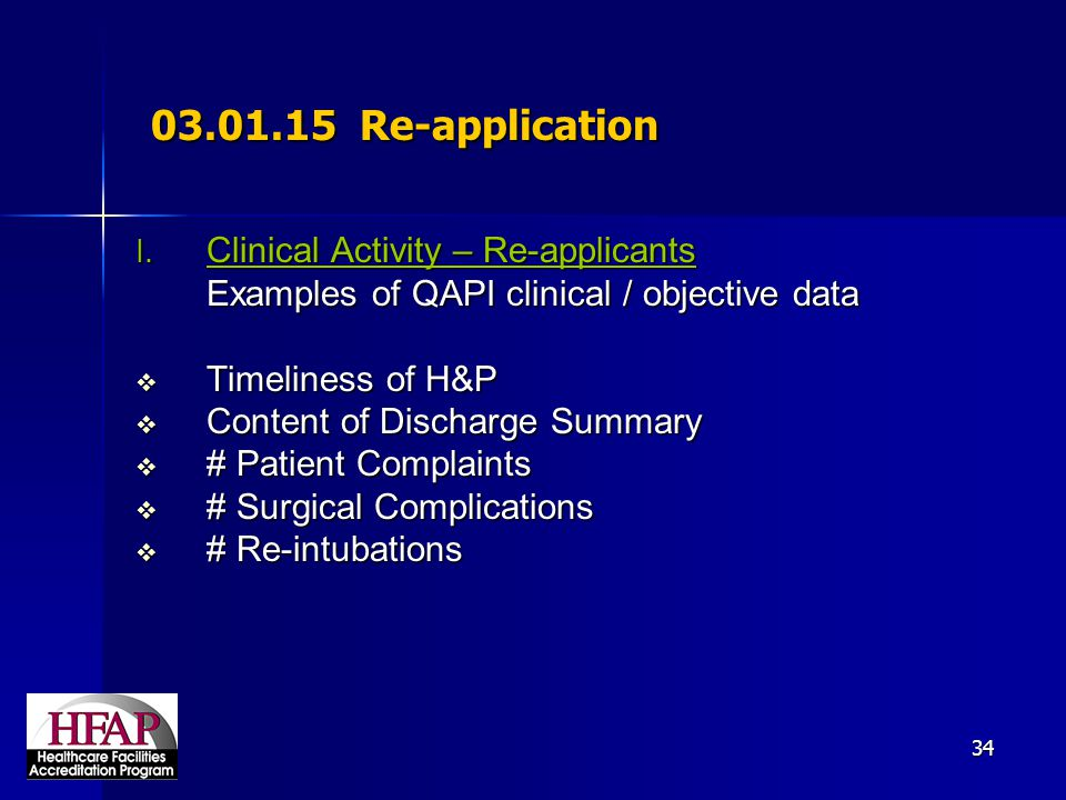 03.01.15 Re-application Clinical Activity – Re-applicants