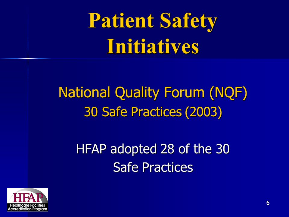 Patient Safety Initiatives