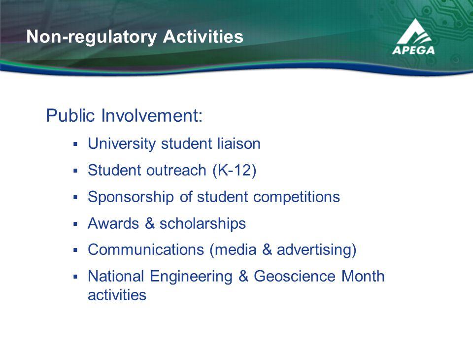 Non-regulatory Activities