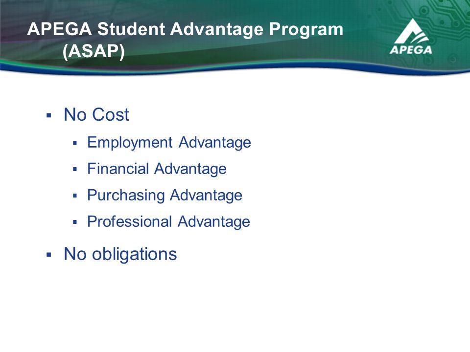 APEGA Student Advantage Program (ASAP)