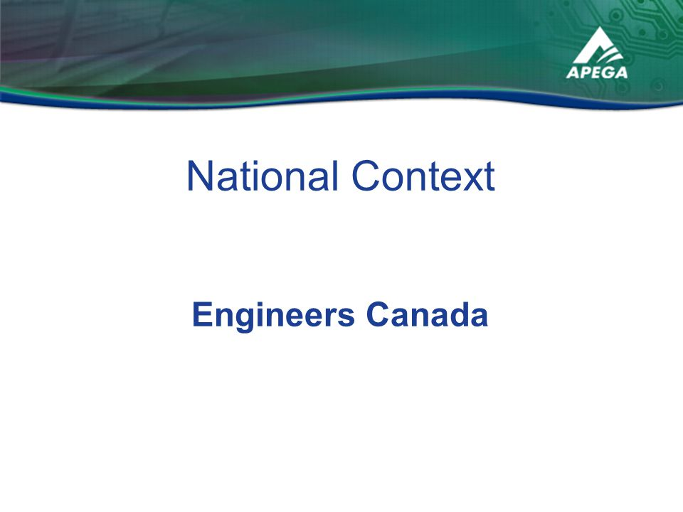 National Context Engineers Canada