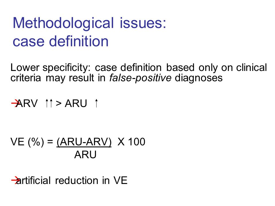 Methodological issues: case definition
