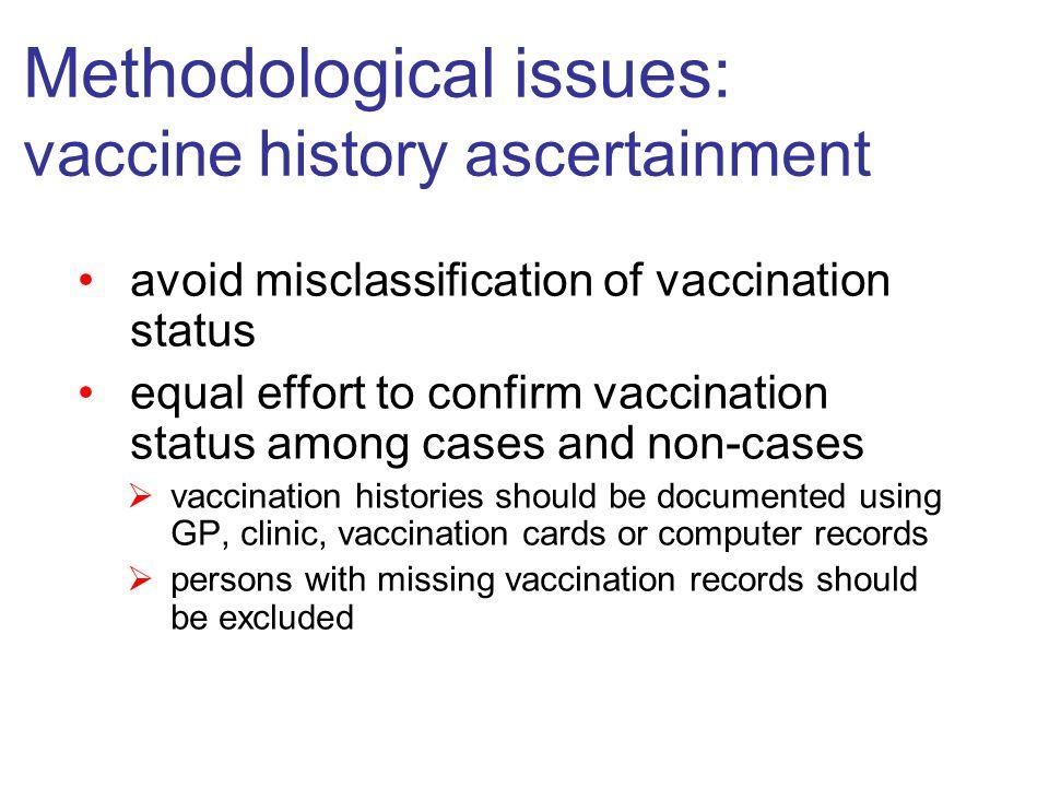 Vaccine effectiveness: post licensure monitoring of VE